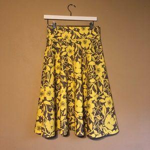 Dresses & Skirts - Knee Length Yellow and Grey Skirt